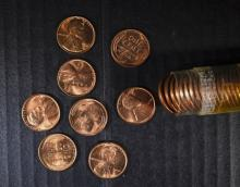 BU ROLL OF 1952 LINCOLN CENTS