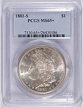 1881 S Morgan Dollar PCGS MS65+ Blast White