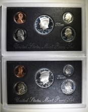 2 - SILVER PROOF SETS; 1993 & 1992