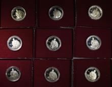 ( 9 ) 1982 PROOF 90% SILVER WASHINGTON COMMEM HALF DOLLARS IN  ORIG PACKAGING