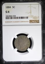 1884 LIBERTY NICKEL NGC G-6