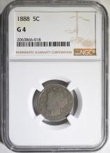 1888 LIBERTY NICKEL NGC G-4