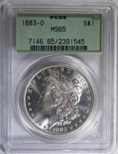 1883-O MORGAN SILVER DOLLAR - PCGS MS65 OLD GREEN HOLDER