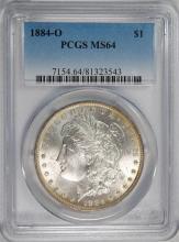 1884-O MORGAN SILVER DOLLAR, PCGS MS-64