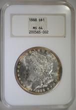 1888 MORGAN SILVER DOLLAR NGC MS-64