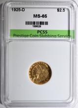 1925-D $2.5 GOLD INDIAN HEAD PCSS GEM BU