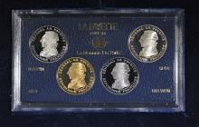 1987 FRENCH PARIS 4-COIN LAFAYETTE PROOF SET#2972 LOW MINTAGE: