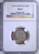 1926A SILVER MARK GERMANY NGC MS 65