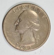 1932-D WASHINGTON QUARTER, FINE  KEY DATE
