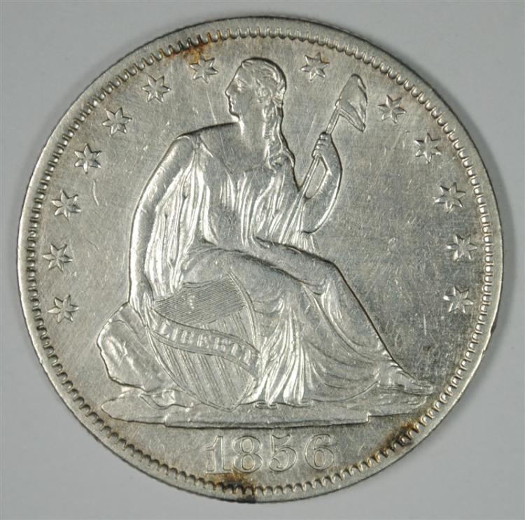 1856-O SEATED LIBERTY HALF DOLLAR AU