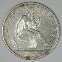 1856-O SEATED LIBERTY HALF DOLLAR AU