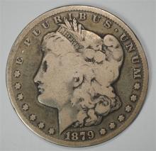 1879-CC MORGAN DOLLAR CLEAR