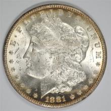1881-CC MORGAN SILVER DOLLAR, CHOICE BU+  KEY DATE!