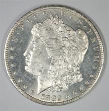 1882-CC MORGAN SILVER DOLLAR, CHOICE BU PL