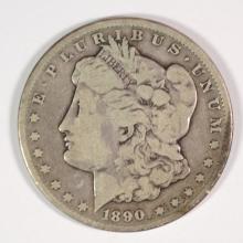 1890-CC MORGAN SILVER DOLLAR - VG/F
