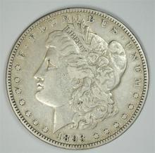 1893 MORGAN SILVER DOLLAR, XF+  KEY DATE