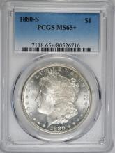 1880-S MORGAN SILVER DOLLAR PCGS MS-65+