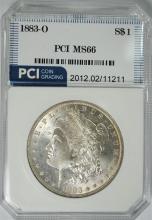 1883-O MORGAN SILVER DOLLAR, PCI SUPERB GEM BU