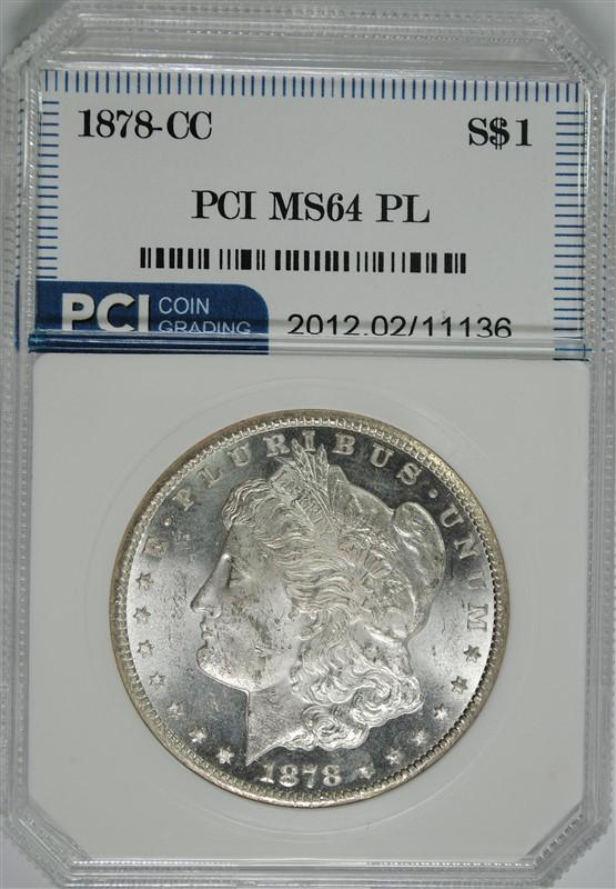 1878-CC MORGAN SILVER DOLLAR, PCI CH/GEM BU PL