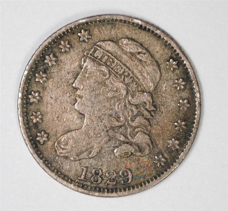 1829 CAPPED BUST HALF DIME, VF