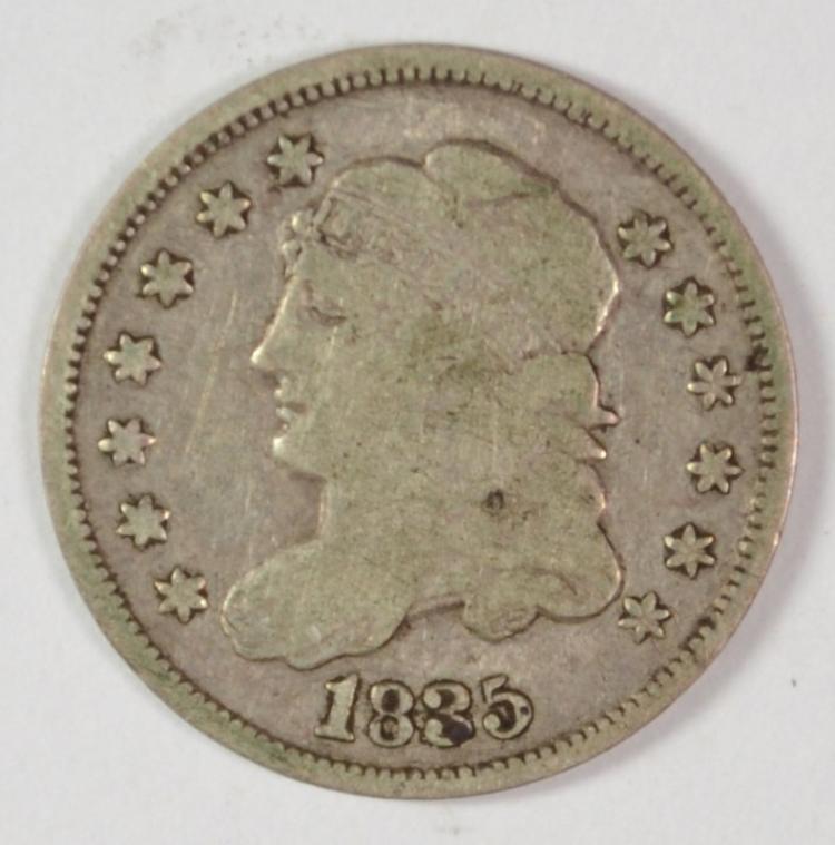 1835 BUST HALF DIME, G/VG