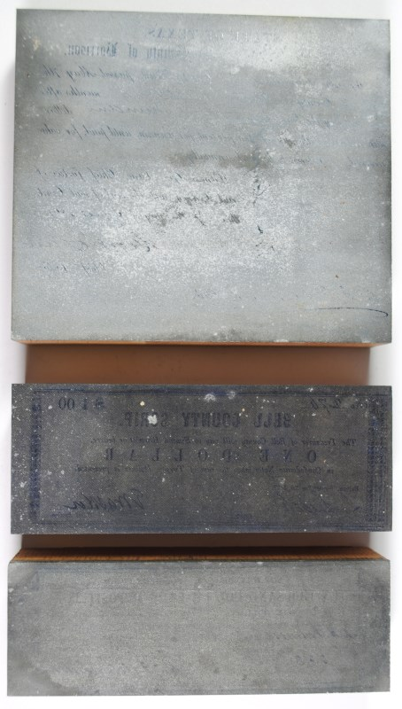 3 - TEXAS CONFEDERATE PRINTING BLOCKS that PRODUCED CONFEDERATE COUNTY NOTES