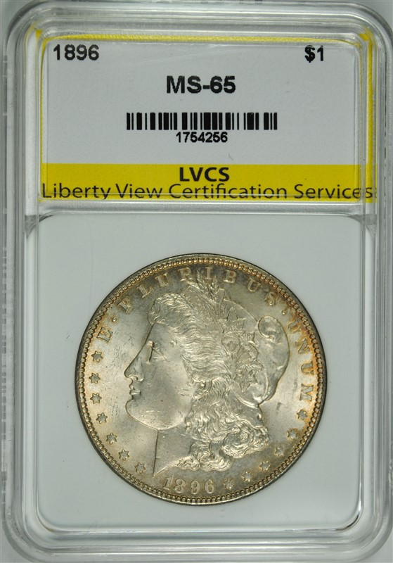 1896 MORGAN SILVER DOLLAR LVCS GEM BU