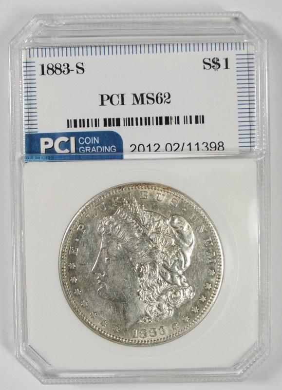 1883-S MORGAN SILVER DOLLAR PCI CH BU  RARE DATE!