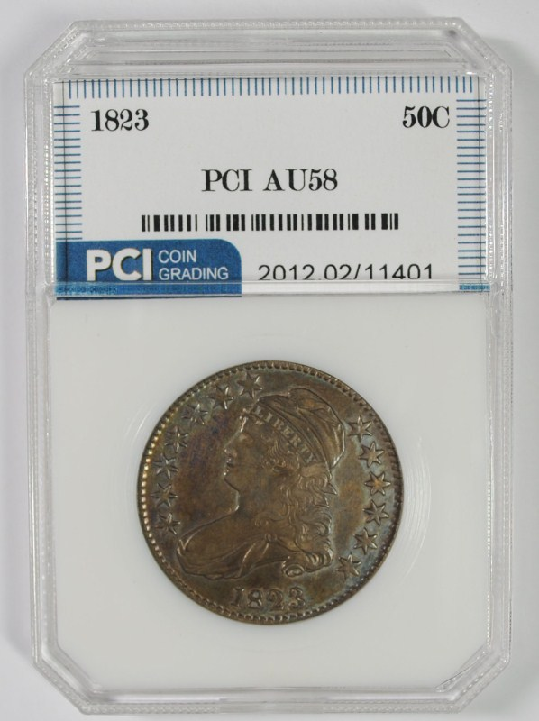 1823 CAPPED BUST HALF DOLLAR PCI AU/BU