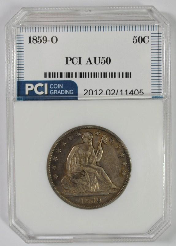1859-O LIBERTY SEATED HALF DOLLAR PCI AU