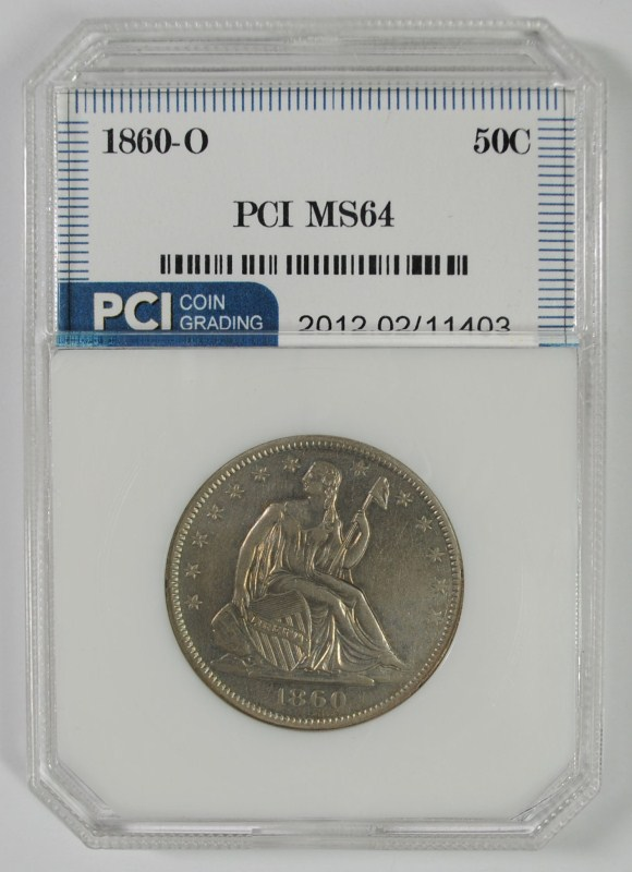 1860-O LIBERTY SEATED HALF DOLLAR PCI CH BU