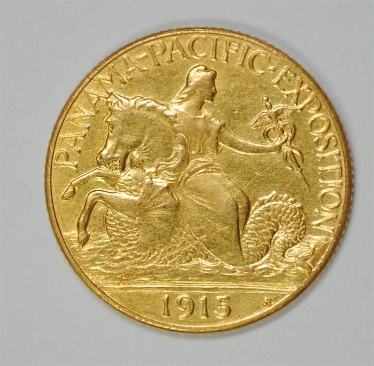 1915-S PANAMA-PACIFIC $2.50 GOLD AU