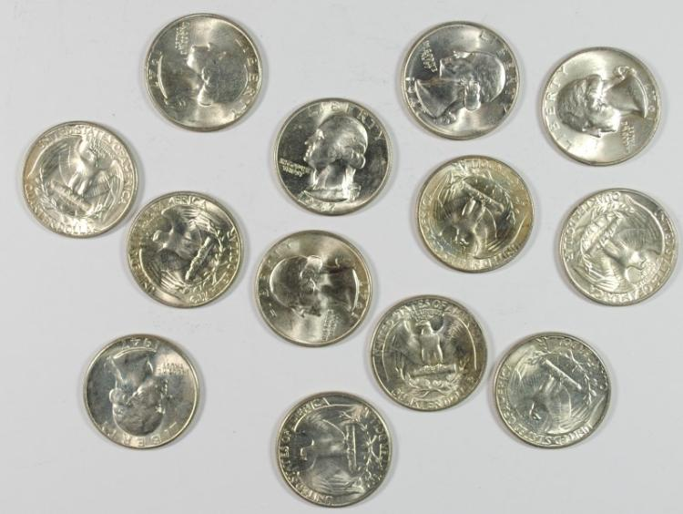 ( 13 ) GEM BU 1947 WASHINGTON QUARTERS, HARD TO FIND!