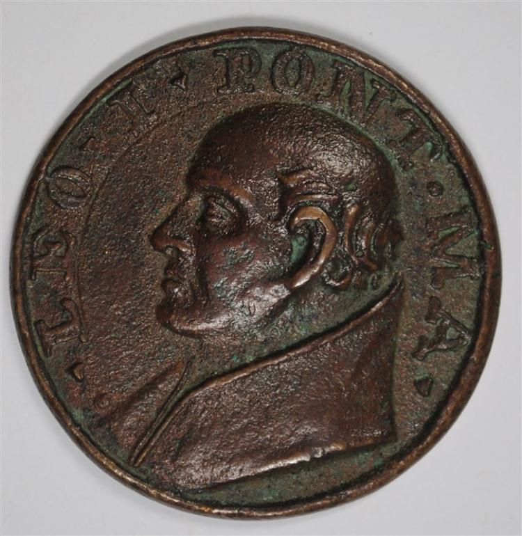 BRONZE PAPAL MEDAL: POPE LEO I 440-461