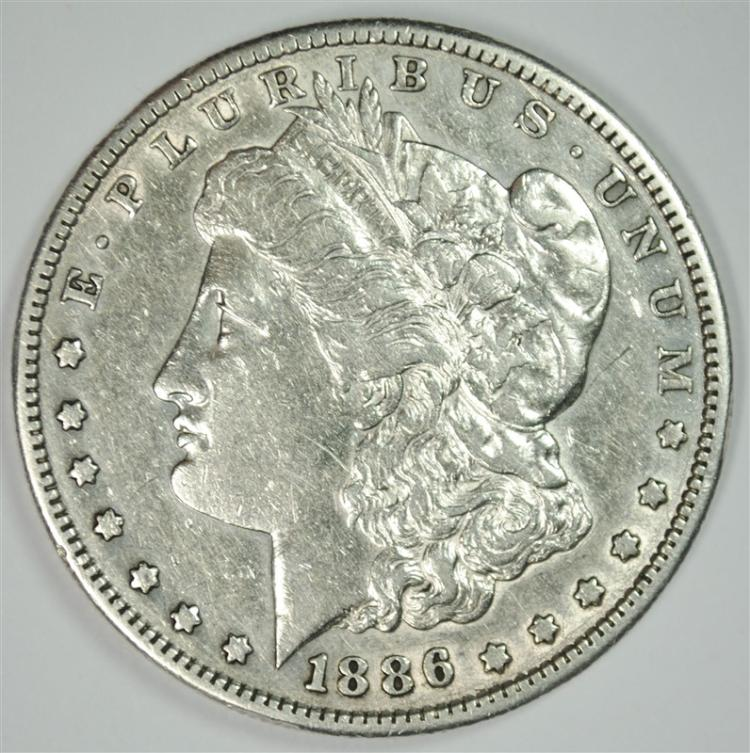 1886-S MORGAN SILVER DOLLAR XF-AU  SEMI-KEY