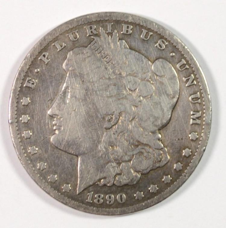 1890-CC MORGAN SILVER DOLLAR - VG
