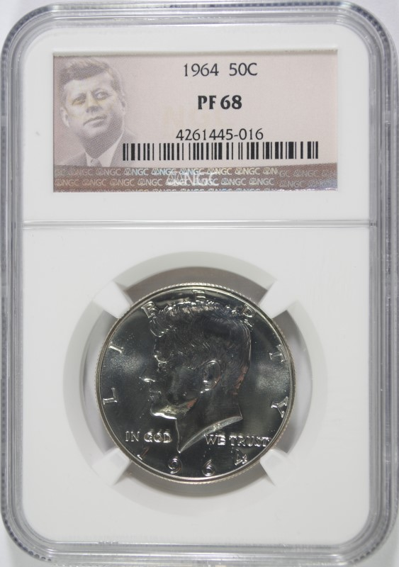 1964 KENNEDY HALF DOLLAR NGC PROOF 68