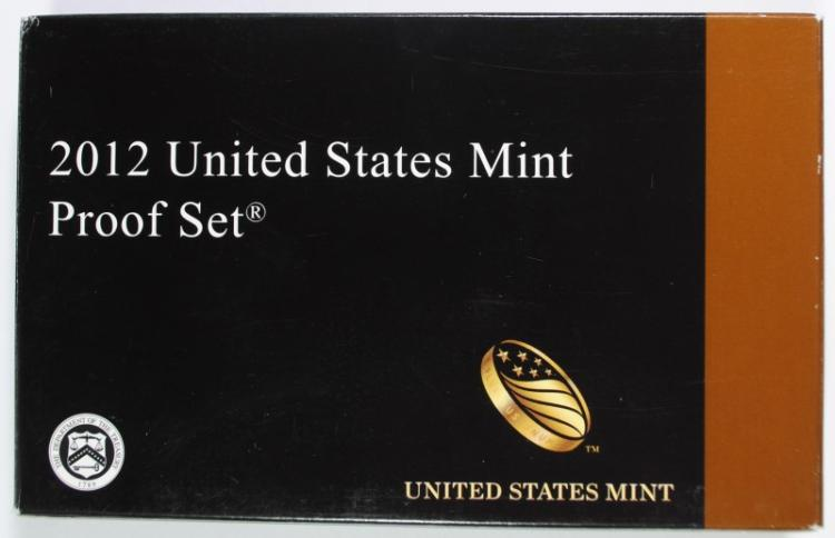 2012 U.S. PROOF SET IN ORIGINAL BOX/COA