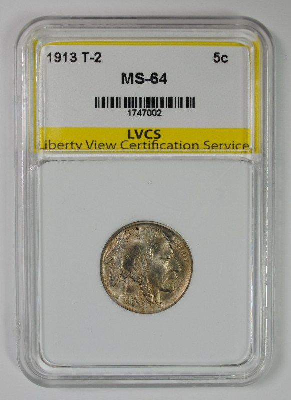1913 TYPE-2 BUFFALO NICKEL, LVCS CH/GEM BU