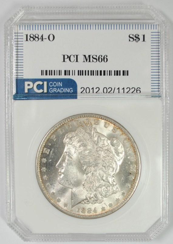 1884-O MORGAN SILVER DOLLAR PCI SUPERB GEM BU