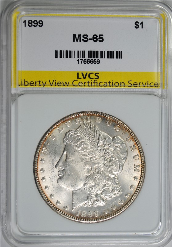 1899 MORGAN SILVER DOLLAR LVCS GEM BU