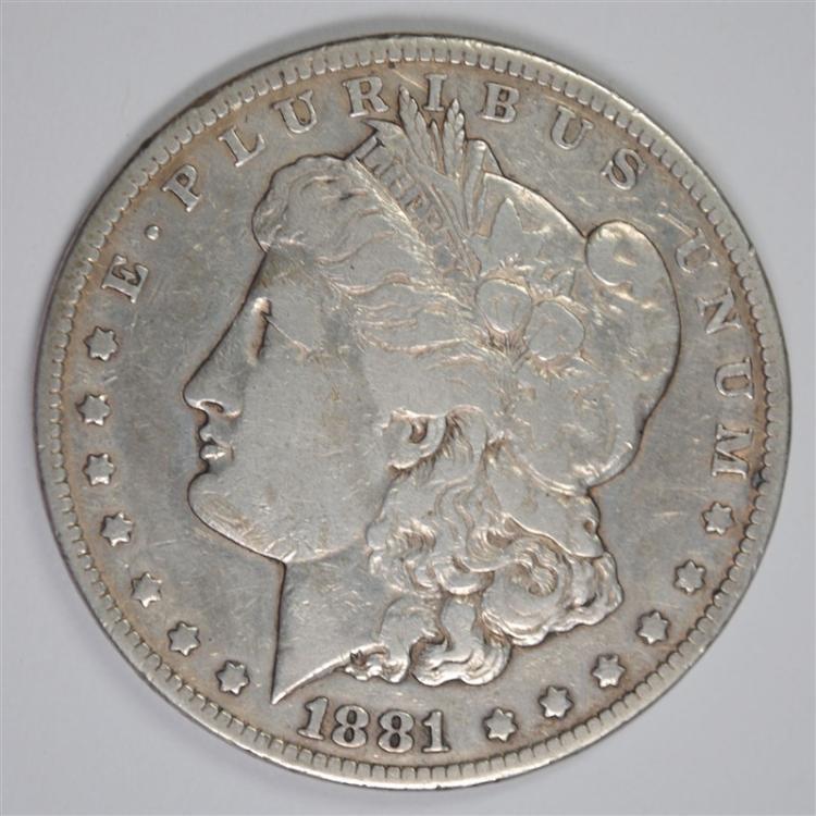 1881-CC MORGAN SILVER DOLLAR FINE