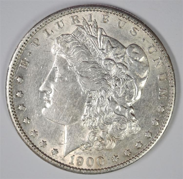 1900-S MORGAN SILVER DOLLAR AU