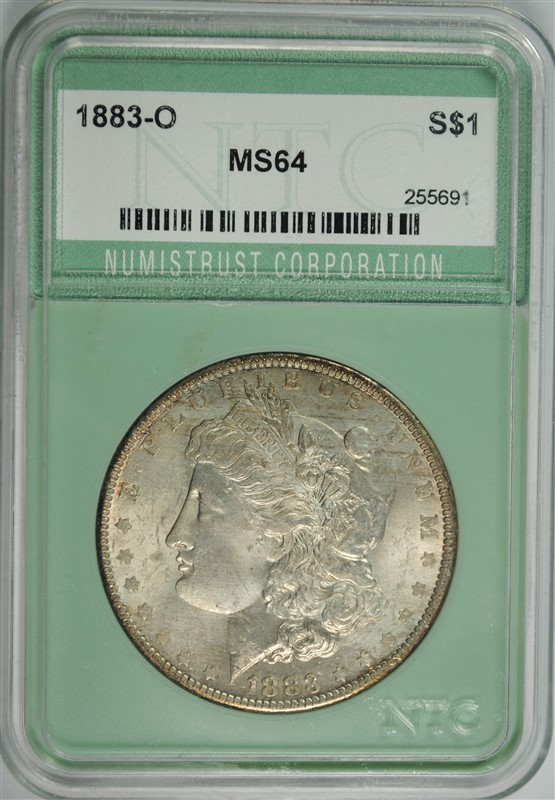 1883-O MORGAN SILVER DOLLAR, NTC CH/GEM BU