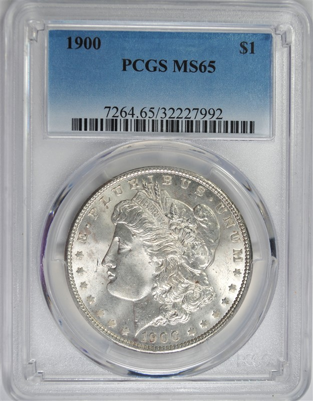 1900 MORGAN SILVER DOLLAR PCGS MS65