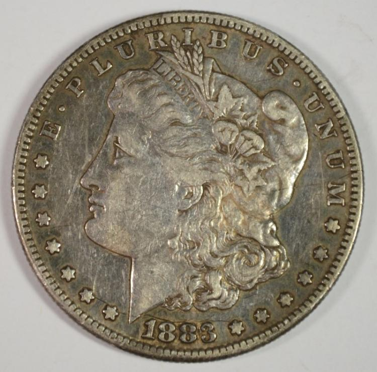 1883-S MORGAN SILVER DOLLAR, XF+
