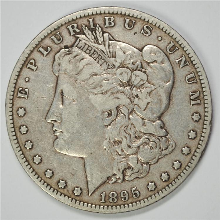 1895-O MORGAN SILVER DOLLAR, VF  KEY COIN