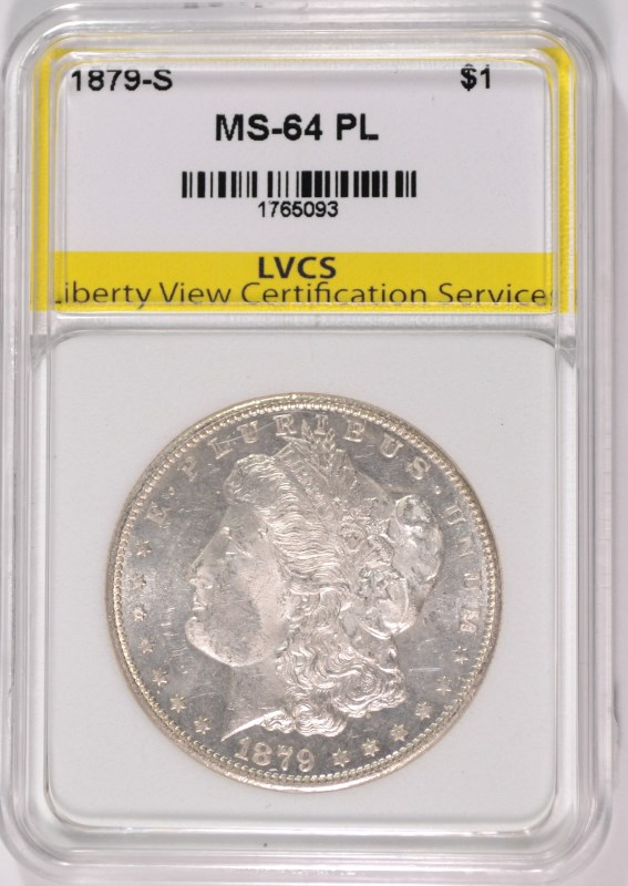 1879-S MORGAN SILVER DOLLAR LVCS CHOICE GEM BU PROOF LIKE