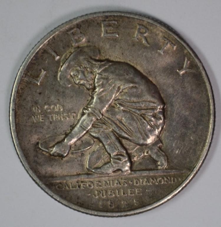 1925-S CALIFORNIA COMMEMORATIVE HALF DOLLAR, AU+