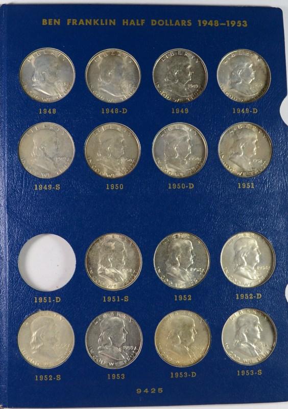 BU FRANKLIN HALF DOLLAR SET: MISSING ONLY THE 1951-D NICE!!